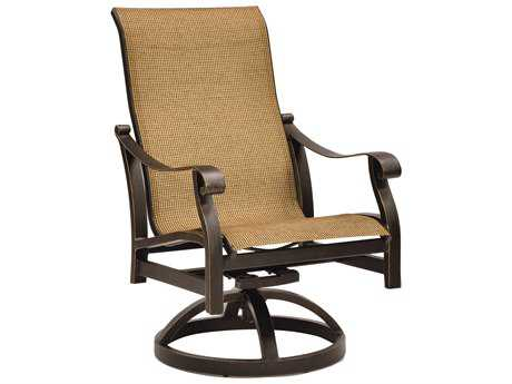 Castelle Madrid Sling Cast Aluminum Swivel Rocker