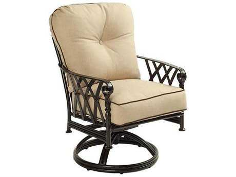 Castelle Veranda Cushion Cast Aluminum Swivel Rocker PatioLiving