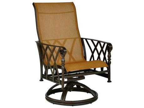 Castelle Veranda Sling Cast Aluminum Swivel Rocker PatioLiving