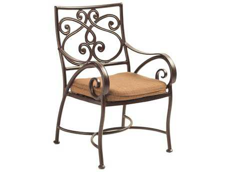Castelle Lucerne Cast Aluminum Dining Chair with Loose Seat Cushion