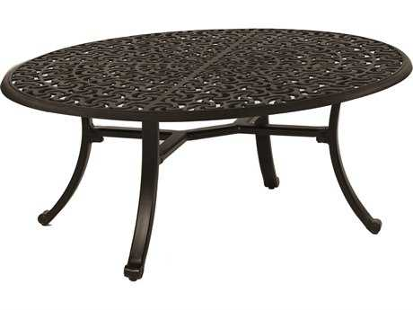 Castelle Sienna Cast Aluminum 47.5 x 32 Elliptical Coffee Table (Ready To Assemble)