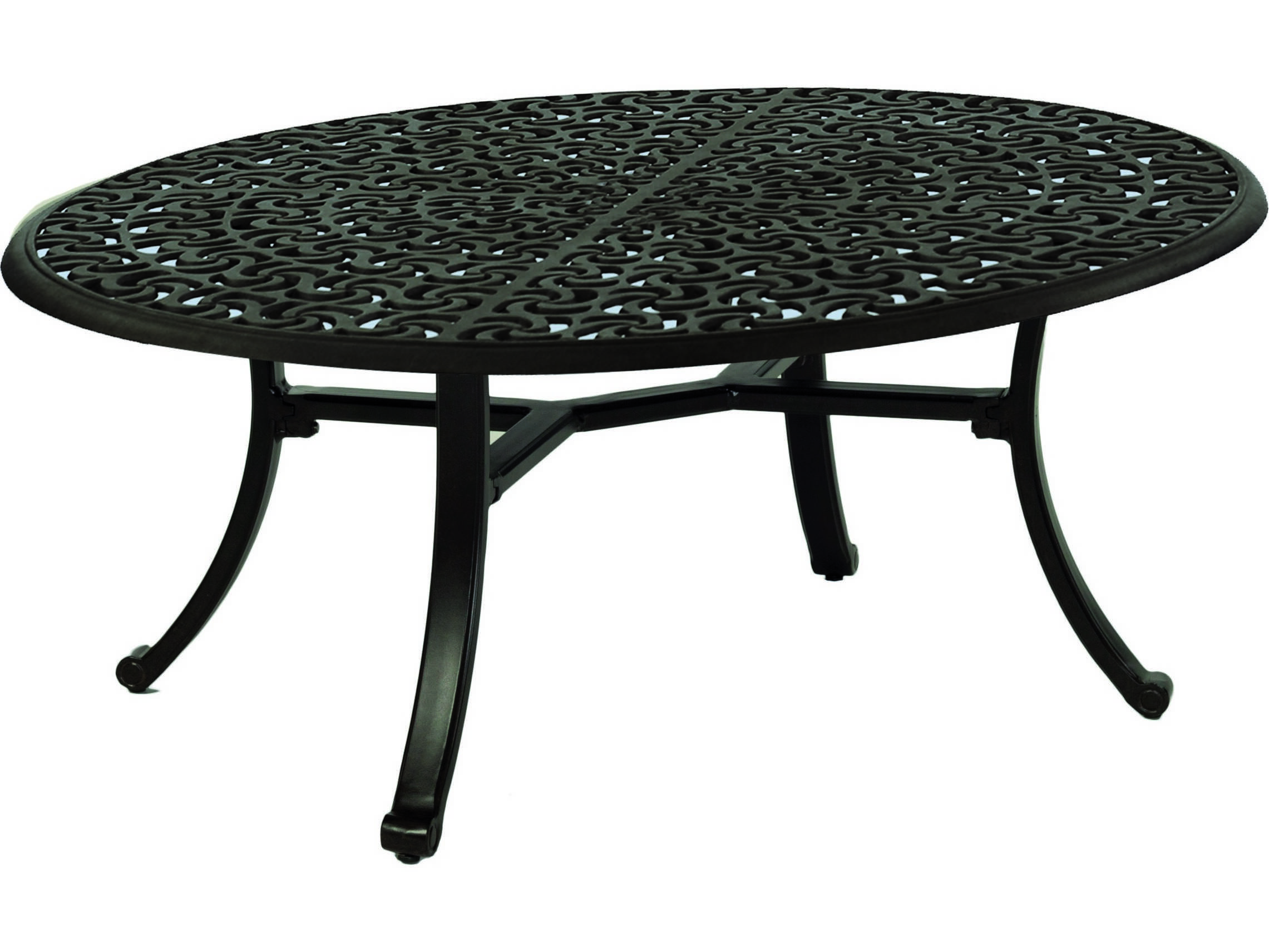 Castelle Sienna Cast Aluminum 47 5 X 32 Elliptical Coffee Table Ready To Assemble Pf492684