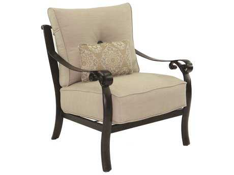 Castelle Bellanova Deep Seating Cast Aluminum Lounge Chair with One Kidney Pillow