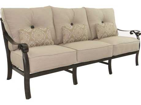 Castelle Bellanova Deep Seating Cast Aluminum Sofa with Three Kidney Pillows PF5414T