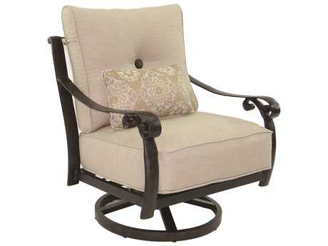 Castelle Bellanova Deep Seating Cast Aluminum Lounge Swivel Rocker with One Kidney Pillow