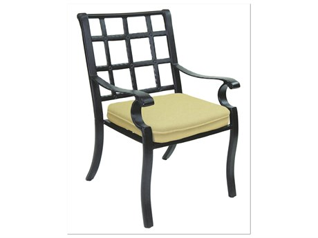 Castelle Monterey Cast Aluminum Dining Chair with Loose Seat Cushion