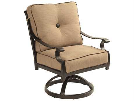 Castelle Monterey Cushion Cast Aluminum Swivel Rocker