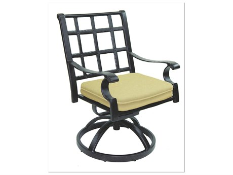 Castelle Monterey Cast Aluminum Swivel Rocker with Loose Seat Cushion