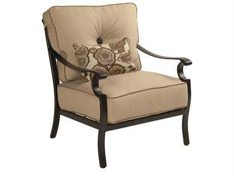 Castelle Monterey Deep Seating Cast Aluminum Lounge Chair with One Kidney Pillow