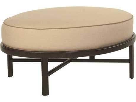 Castelle Monterey Deep Seating Cast Aluminum Oval Ottoman