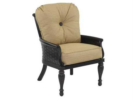 Castelle English Garden Cushion Cast Aluminum Dining Chair