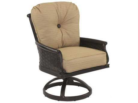 Castelle English Garden Cushion Cast Aluminum Dining Swivel Rocker