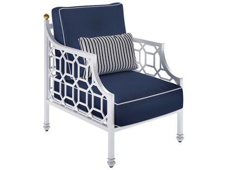 Castelle Barclay Butera Deep Seating Aluminum Cushioned Lounge Chair with One Accent Pillow
