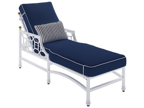 Castelle Barclay Cushion Aluminum Adjustable  Chaise Lounge with Wheels