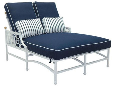 Castelle Barclay Butera Signature Cushion Aluminum Adjustable Double Chaise Lounge PatioLiving