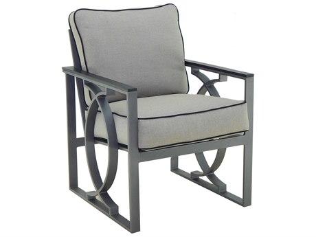 Castelle Sunrise Cushion Cast Aluminum Dining Chair