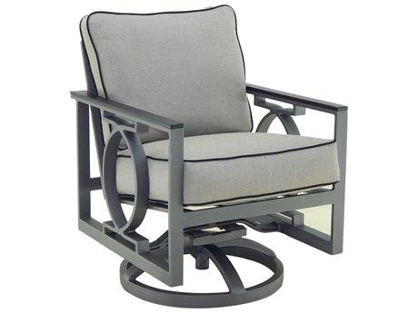 Castelle Sunrise Cushion Cast Aluminum Swivel Rocker