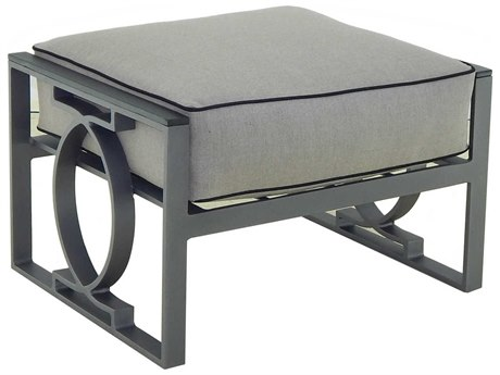 Castelle Sunrise Deep Seating Cast Aluminum Cushion Ottoman