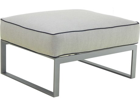 Castelle Sunrise Sectional Cast Aluminum Cushion Lounge Ottoman