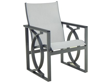 Castelle Sunrise Sling Cast Aluminum Dining Chair