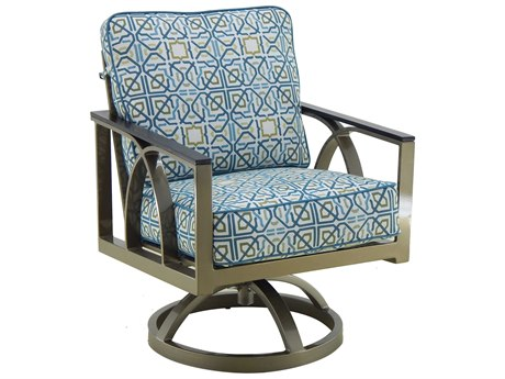 Castelle Hermosa Cushion Cast Aluminum Swivel Rocker