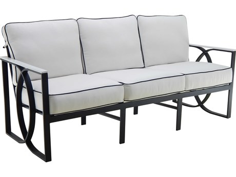 Castelle Hermosa Deep Seating Cast Aluminum Cushion Sofa PF6714T