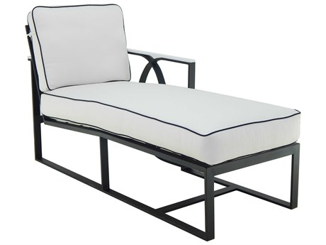 Castelle Hermosa Sectional Cast Aluminum Cushion Left Arm Chaise Lounge Unit