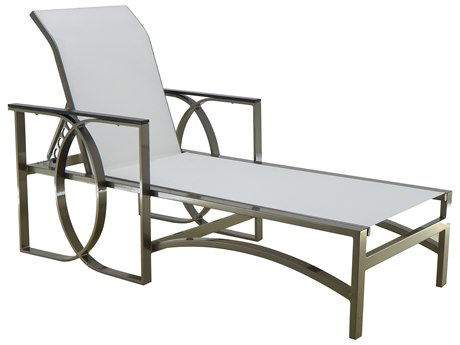 Castelle Hermosa Sling Cast Aluminum Adjustable Chaise Lounge