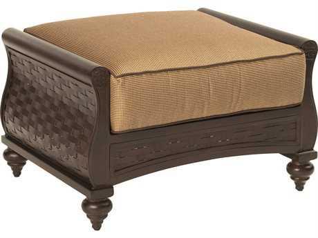 Castelle French Quarter Cushion Cast Aluminum Ottoman