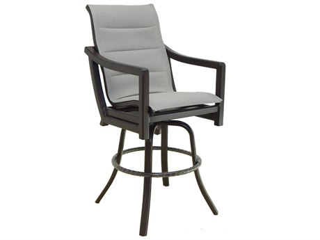 Castelle Legend Sling Aluminum High Back Swivel Bar Stool