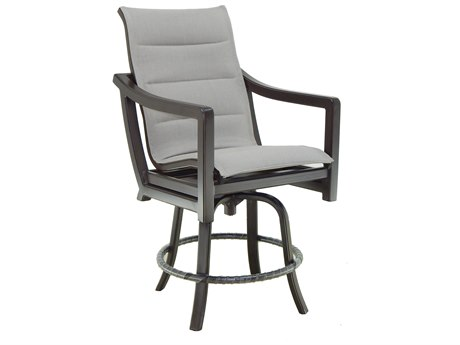 Castelle Legend Sling Aluminum High Back Swivel Counter Stool
