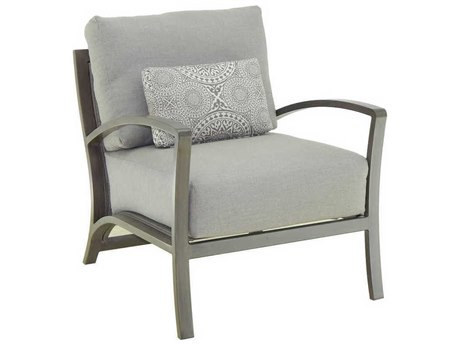 Castelle Napoli Deep Seating Cast Aluminum Cushion Lounge Chair with One Pillow