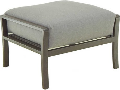 Castelle Napoli Deep Seating Cast Aluminum Cushion Ottoman