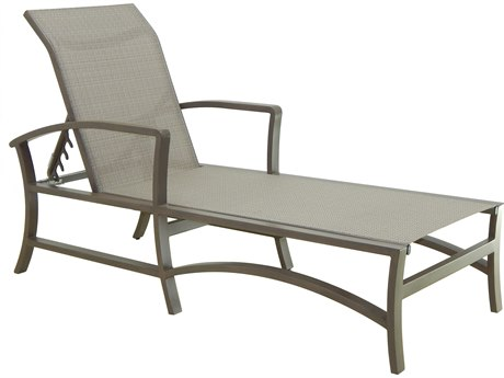 Castelle Napoli Sling Dining Cast Aluminum Adjustable Chaise Lounge