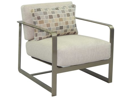 Castelle Solstice Deep Seating Aluminum Lounge Chair with One Pillow