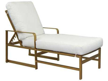 Castelle Solaris City Cushion Cast Aluminum Adjustable Chaise Lounge with Wheels