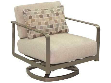 Castelle Solaris City Deep Seating Aluminum Lounge Swivel Rocker with One Pillow