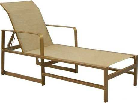 Castelle Solstice Sling Aluminum Adjustable Chaise Lounge