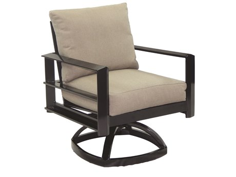 Castelle Vertice City Cushion Aluminum Swivel Rocker