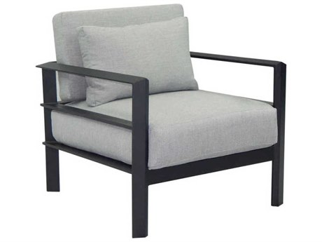 Castelle Vertice City Deep Seating Aluminum Lounge Chair with One Pillow