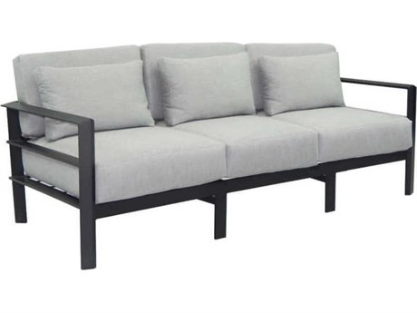 Castelle Vertice City Deep Seating Aluminum Sofa with Three Pillows