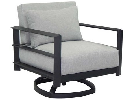 Castelle Vertice City Deep Seating Aluminum Lounge Swivel Rocker with One Pillow