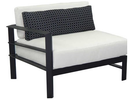 Castelle Vertice City Sectional Aluminum Right Arm Lounge Unit with One Pillow