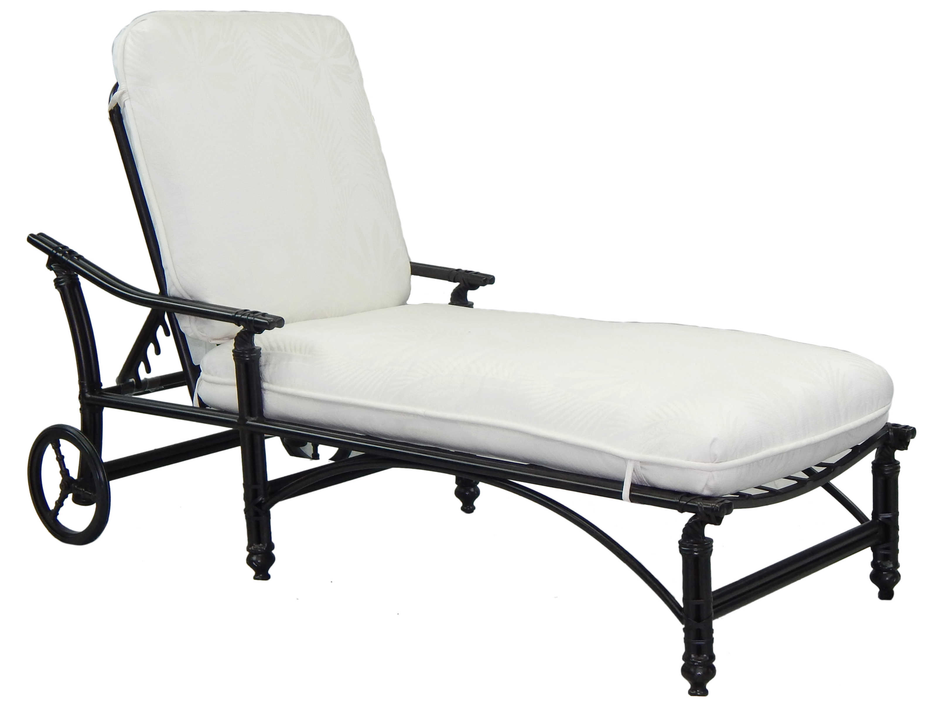 Castelle coco isle cushion cast aluminum adjustable chaise for Cast aluminum chaise lounge