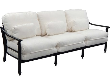 Castelle Coco Isle Deep Seating Cast Aluminum Sofa with Three Kidney Pillows PF8814J
