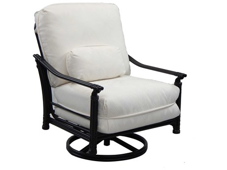 Castelle Coco Isle Deep Seating Cast Aluminum High Back Lounge Swivel Rocker with One Kidney Pillow
