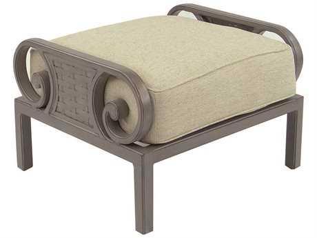 Castelle Riviera Cushion Cast Aluminum Ottoman