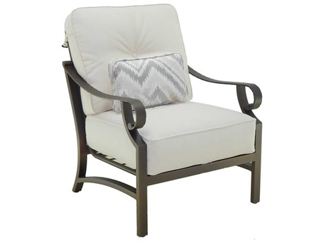Castelle Sonesta Deep Seating Cast Aluminum Cushion Lounge Chair with One Pillow