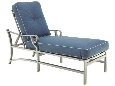 Castelle Sonesta Cushion Cast Aluminum Adjustable Chaise Lounge