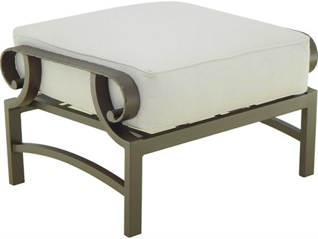 Castelle Sonesta Deep Seating Cast Aluminum Cushion Ottoman
